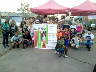 Projeto Brincando sem Armas reúne dezenas de famílias no bairro Vicentina