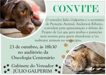 Galperim apresentará Projeto de Lei que tipifica crimes contra os animais
