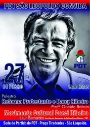 Palestra sobre a reforma protestante e Darcy Ribeiro