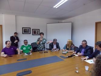 Iara Cardoso participa da assinatura de financiamento do município com o Badesul