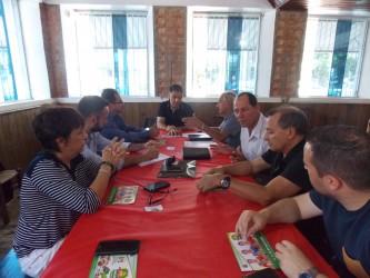 Líder da bancada do PDT recebe executiva da coordenadoria do Vale do Sinos na sede do diretório municipal