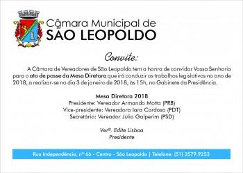 Posse da presidência da Câmara de Vereadores de São Leopoldo