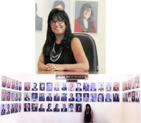 Vereadora Cigana, na Galeria dos Ex-Presidentes