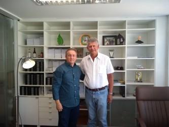 Fabiano visita deputado Afonso Motta em Porto Alegre