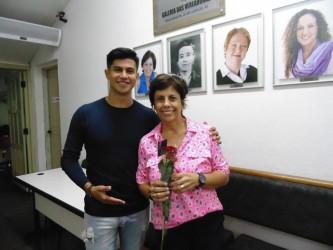 HOMENAGEM À MULHER Vereador David  também homenageou a colega Iara Cardoso
