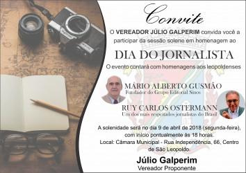 Mário Alberto Gusmão e Ruy Carlos Ostermann serão homenageados por Galperim