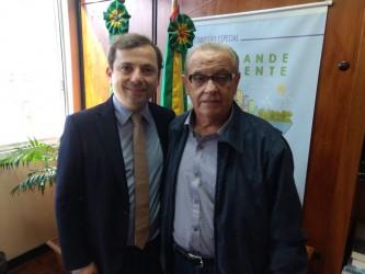 Deputado Reinelli confirma a Galperim apoio ao novo CRVA em São Leopoldo
