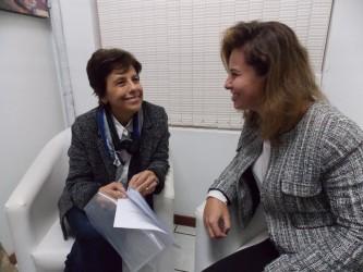 Vereadora Iara Cardoso recebe primeira-dama de Gramado em seu gabinete