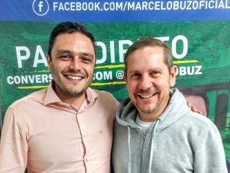 Marcelo Buz recebe a visita do delegado Heliomar Franco