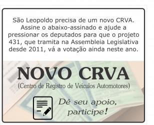 Galperim lança abaixo-assinado a favor de novo CRVA