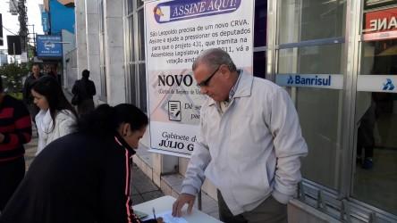 Abaixo-assinado em favor de novo CRVA quer alcançar cinco mil assinaturas