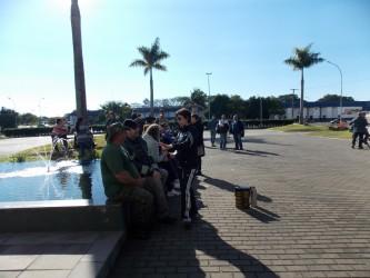 Vereadora Iara Cardoso acompanha mobilização e entrega de reivindicações dos funcionários públicos