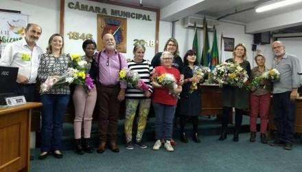Protagonistas ambientais recebem homenagem do vereador Nestor Schwertner (PT)