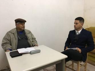 O vereador David Santos visita o São João Batista