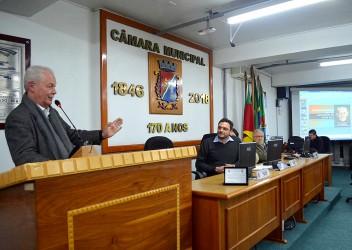 Marcelo Buz homenageou os 150 anos de Padre Reus em Sessão Solene