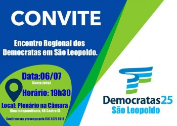 Encontro Regional do Democratas ocorre nesta sexta-feira