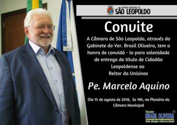 Pe.Marcelo Aquino, Cidadão Leopoldense