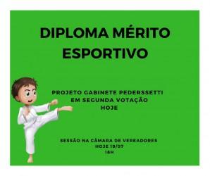 Diploma Mérito Esportivo em segunda votação
