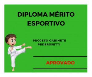 Diploma Mérito Esportivo é aprovado