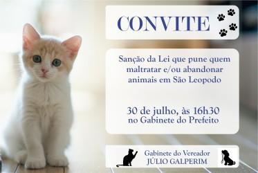Lei de Galperim que pune quem maltratar animais será sancionada na segunda-feira