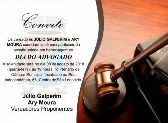 Câmara realiza sessão em homenagem ao Dia do Advogado