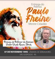 Entrega do Prêmio Paulo Freire – Mestre Cidadão 2018