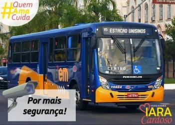 Vereadora Iara Cardoso protocola projeto para instalação de câmeras no transporte coletivo