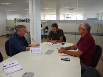Fabiano Haubert visita Secretaria de Mobilidade e Serviços Urbanos