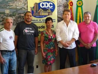 Direção do CDC se reúne com o presidente da Câmara vereador Ary Moura