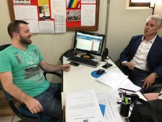 Vereador Arthur Schmidt recebe presidente da FUG
