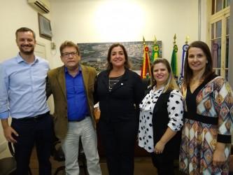 Presidente da Câmara recebe direção da OAB Subseção São Leopoldo
