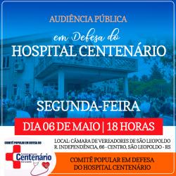 Audiência Pública em Defesa do Hospital Centenário
