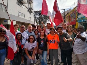 Vereadores do PDT participam da caminhada da Greve Geral contra a Reforma da Previdência