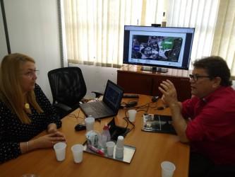Presidente Ary Moura se reúne com diretora do Parque Tecnológico de São Leopoldo