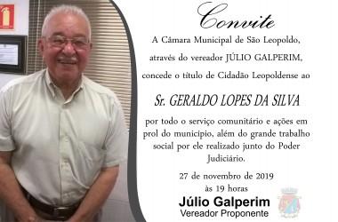 Morador de São Leopoldo há 61 anos, Geraldo Lopes será homenageado por Júlio Galperim