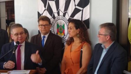 Ary Moura na inauguração da Delegacia da Mulher em São Leopoldo