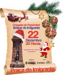 Brique do imigrante com chegada do Papai Noel