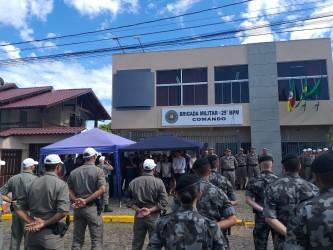 Presidente Ary Moura participa da inauguração da nova sede da Brigada Militar