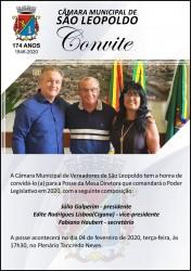 Convite para posse oficial da nova Mesa Diretora da Câmara de São Leopoldo