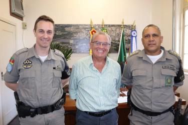 Júlio Galperim recebe visita do Comando do 25º BPM