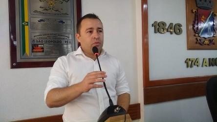 Vereador Juliano Maciel (PDT) se despede do legislativo leopoldense