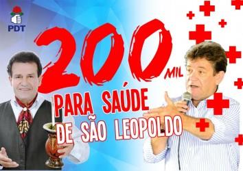 Liberada ordem de pagamento de R$ 150 mil para a saúde de São Leopoldo