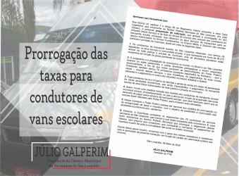 Pedido de Galperim beneficiará condutores de van escolar