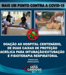 Iara Cardoso agradece doações de empresas ao Hospital Centenário