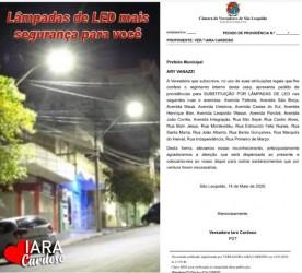 Vereadora Iara Cardoso encaminha pedidos de providências