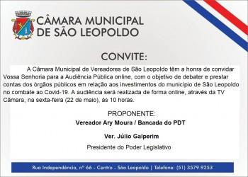 Audiência pública debate investimentos do município no combate ao Covid-19 ocorre nesta sexta-feira