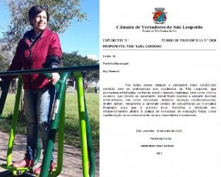 Iara Cardoso pede providências para reabertura das academias em São Leopoldo