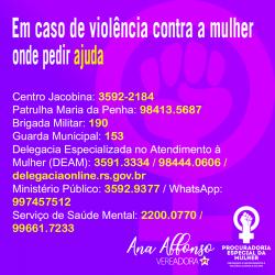 Procuradoria da Mulher divulga onde buscar ajuda em caso de violência