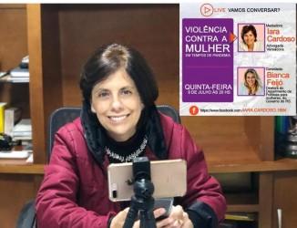 Iara Cardoso destaca importância da educação e da política no combate a violência