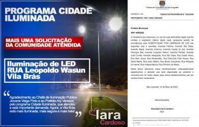 Iara Cardoso saúda troca de iluminação pública em ruas e avenidas